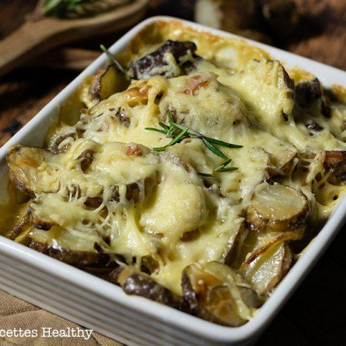 recette healthy-gratin de topinambour-crème-fromage-legume