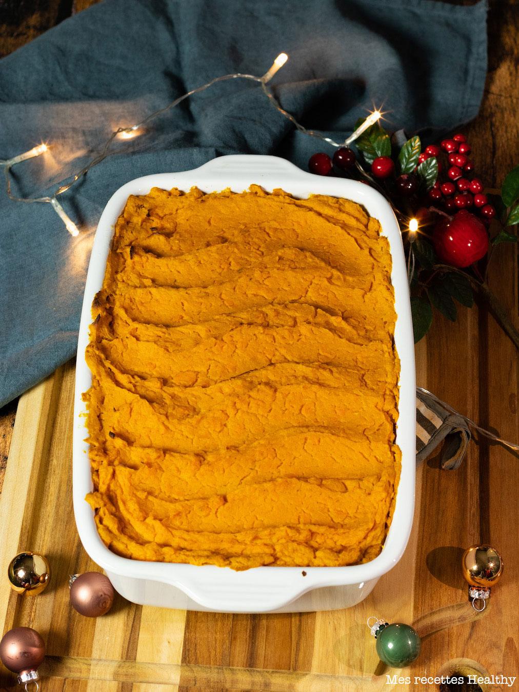 recette healthy-noel-nouvel an-hachis Parmentier de canard-confit de canard-patate douce-hachis Parmentier de canard