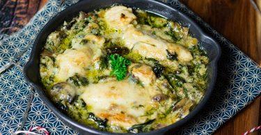 recette healthy-poulet-creme champignon-epinard-fromage