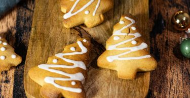 recette healthy-biscuit Sapin-noel-sable-sans beurre