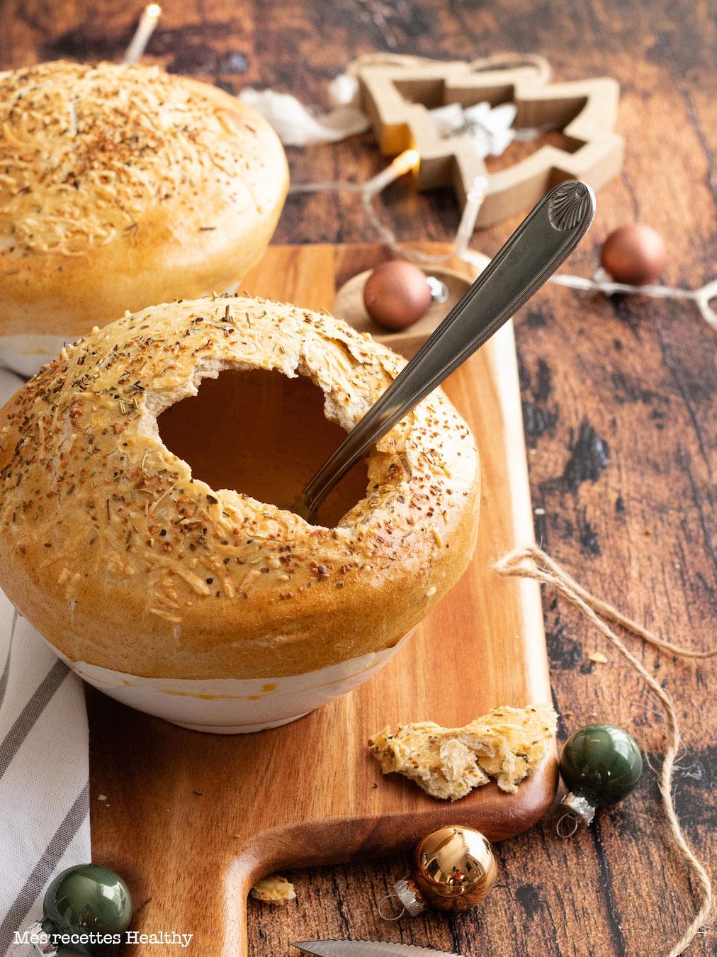 recette healthy-soupe de carotte-croute-noel-fete