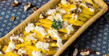 recette healthy-tarte rutabaga-chevre-miel-legume