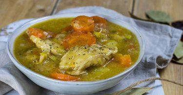 recette healthy-pot au feu-poulet-bouillon-legume