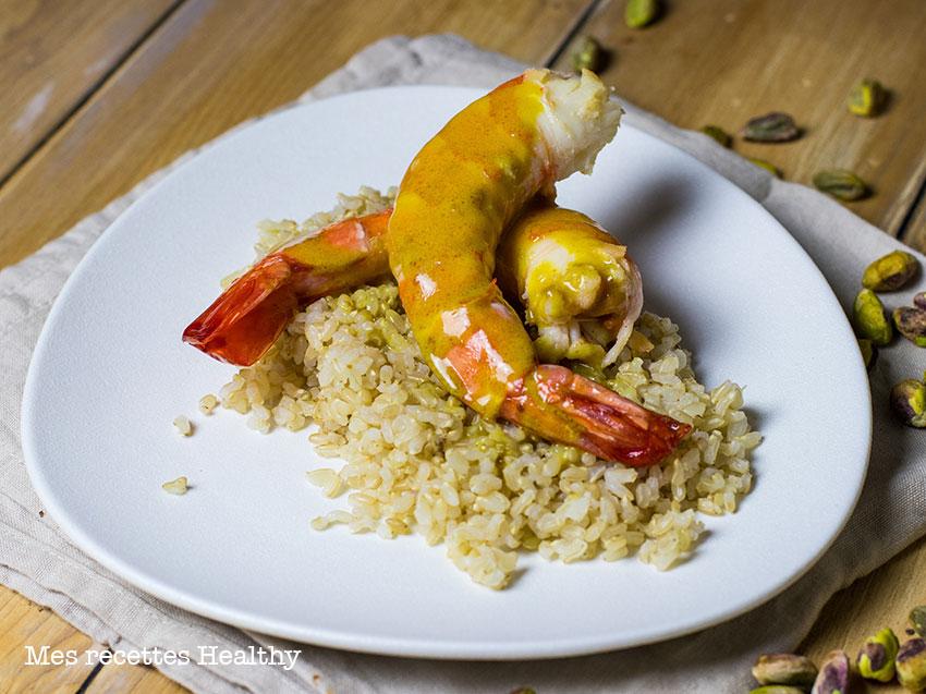recette healthy-crevette curry-langouste-gambas-crustacé-lait de coco-épice
