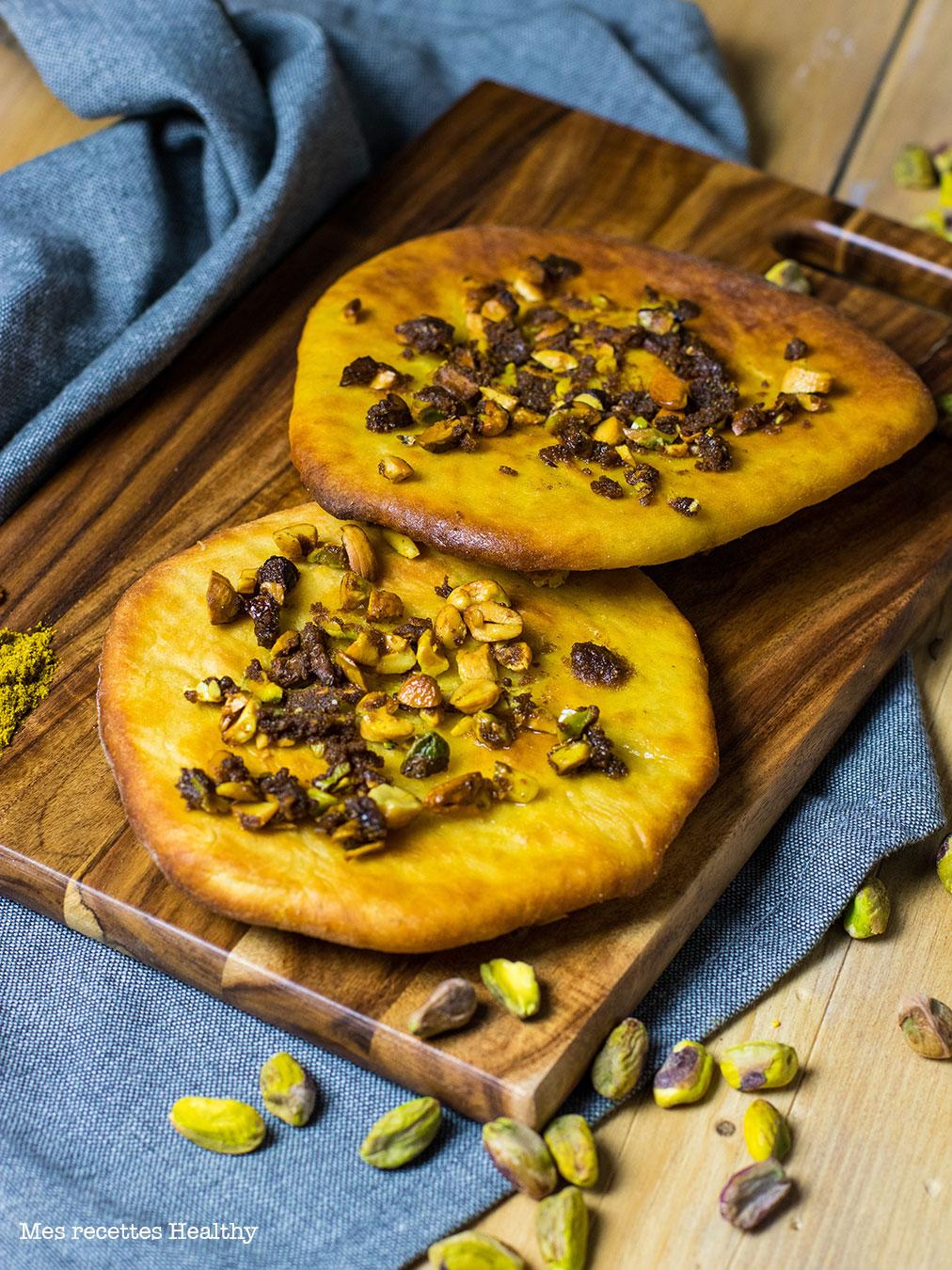 recette healthy-naan-pistache-amande-beurre-naan aux noix de cajou