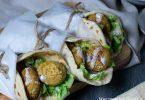 recette healthy-naan aux croquettes-lentilles-falafels-vegetarien