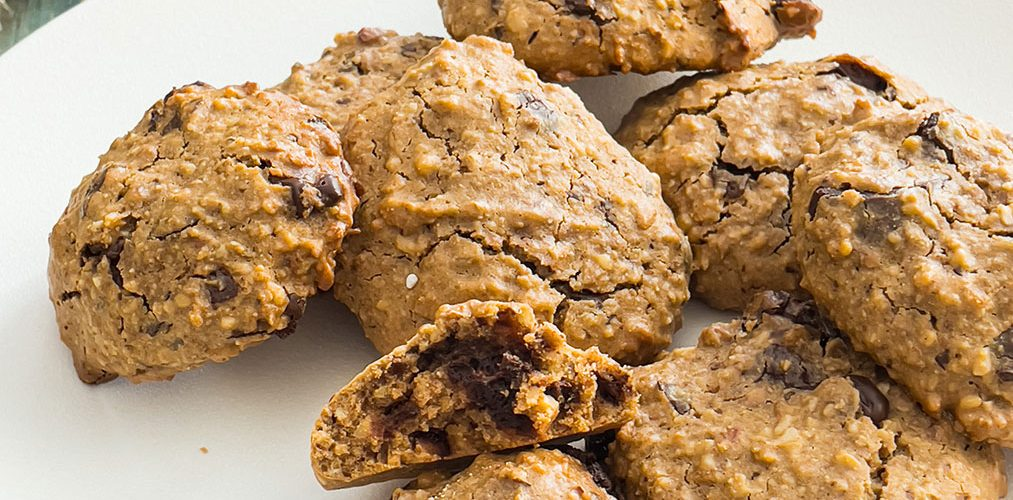 recette healthy-biscuit chocolat-chataigne-amande-cookie