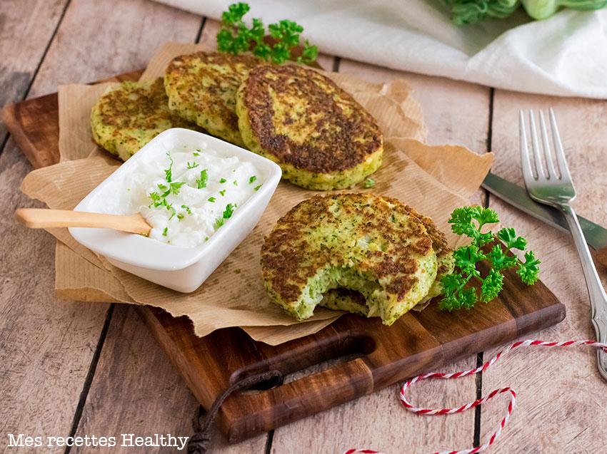 recette healthy-galette de chou-fleur-brocolis-parmesan