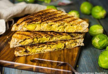 recette healthy-sandwich au poulet-chou de Bruxelles-encas-croque monsieur