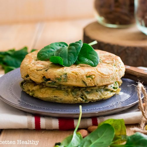 recette healthy-pancake-crepe-galettes aux épinards