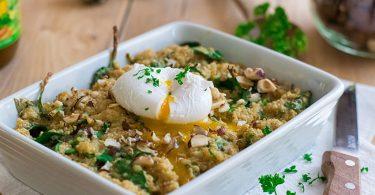 recette healthy-gratin de quinoa-epinards-chevre