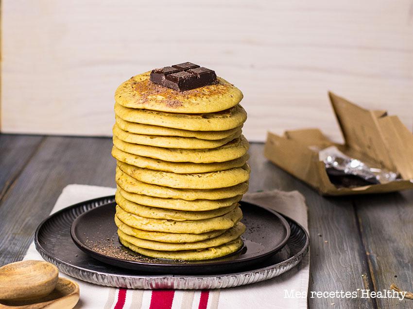 Pancake moelleux au rhum sans beurre