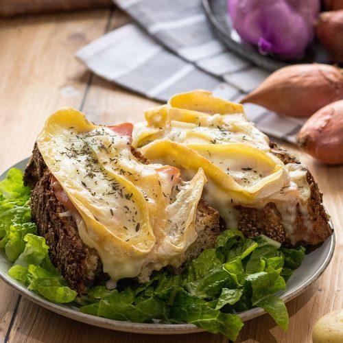 recette healthy-tartine au reblochon-tartiflette-bacon-savoie