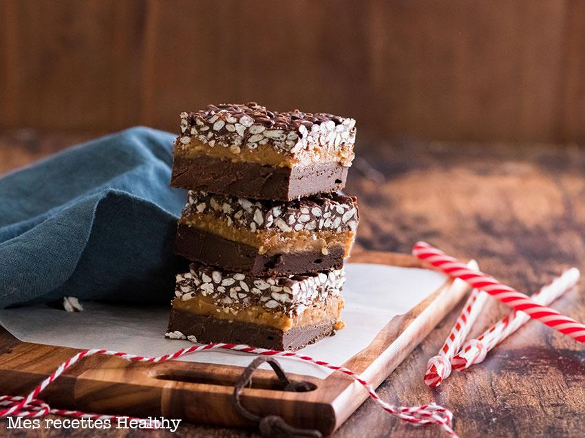 recette healthy-carré croustillant-chocolat-cacahuète-riz soufflé