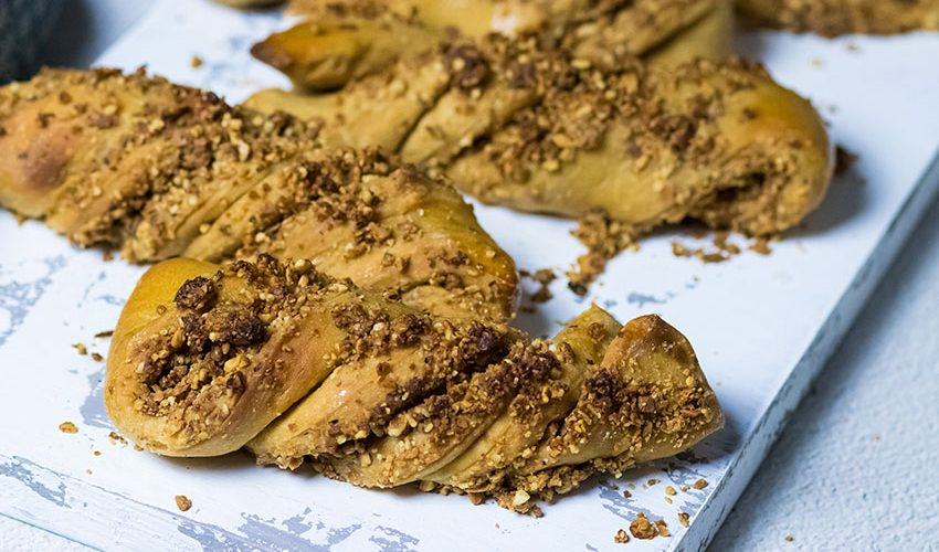 recette healthy-brioche torsadée-pralin-fait maison-brioche sans beurre