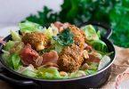 recette healthy-croquette de feta-salade-jambon sec-recette legere