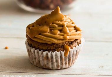 recette healthy-cupcake au chocolat-cafe-coeur caramel