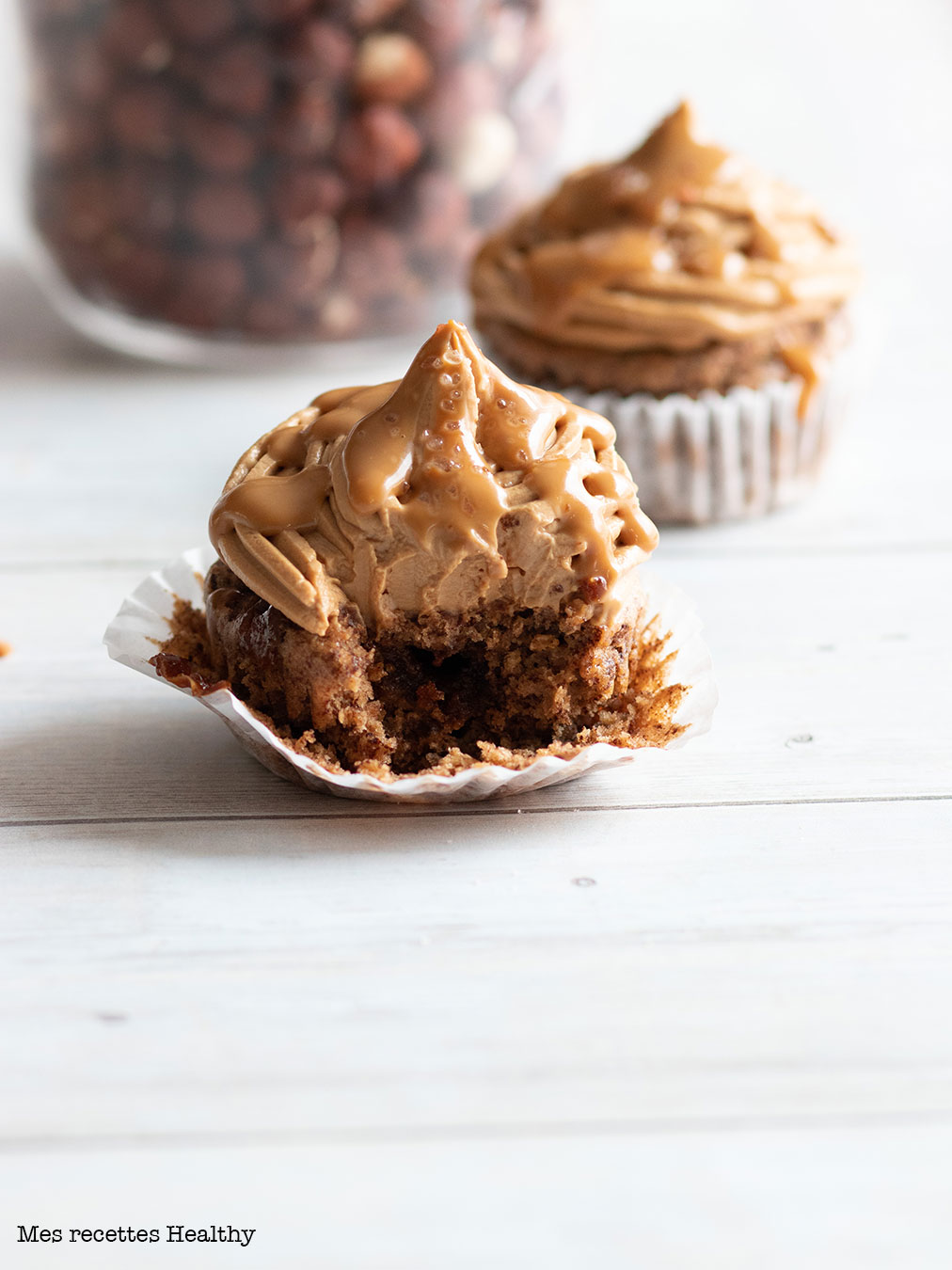 Cupcake au chocolat et caramel