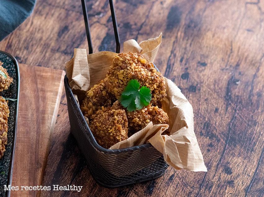 recette healthy-nuggets de poulet croustillant-sauce moutarde