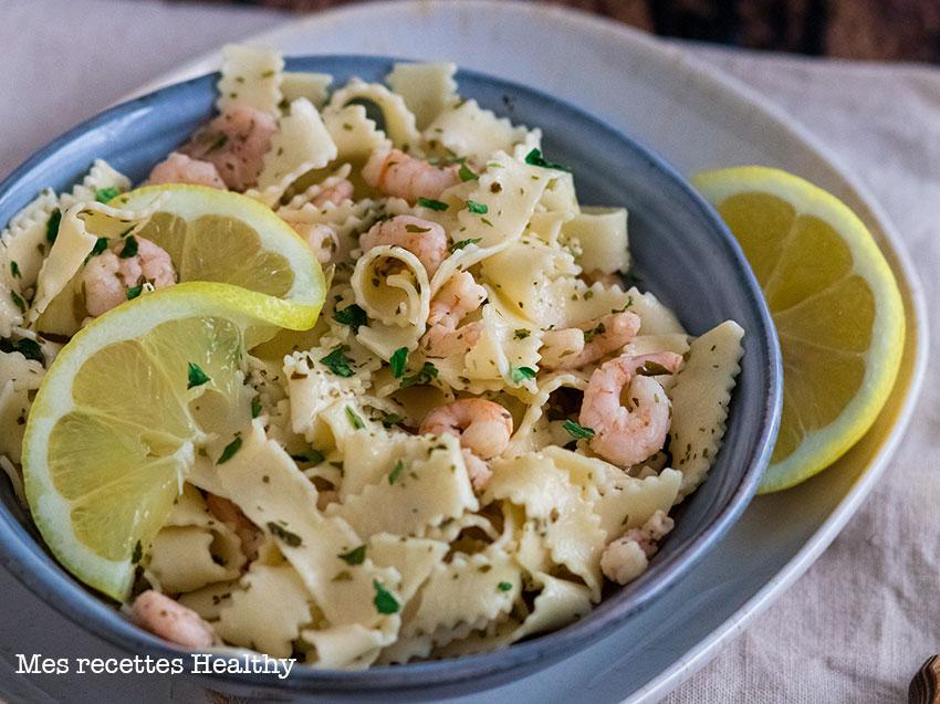 recette healthy-Pâte-aux-crevettes-ail-des-ours