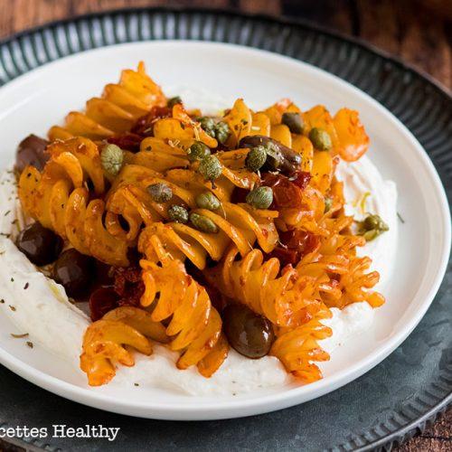 recette healthy-pate-pasta-facile-rapide-Pâte aux olives et tomates