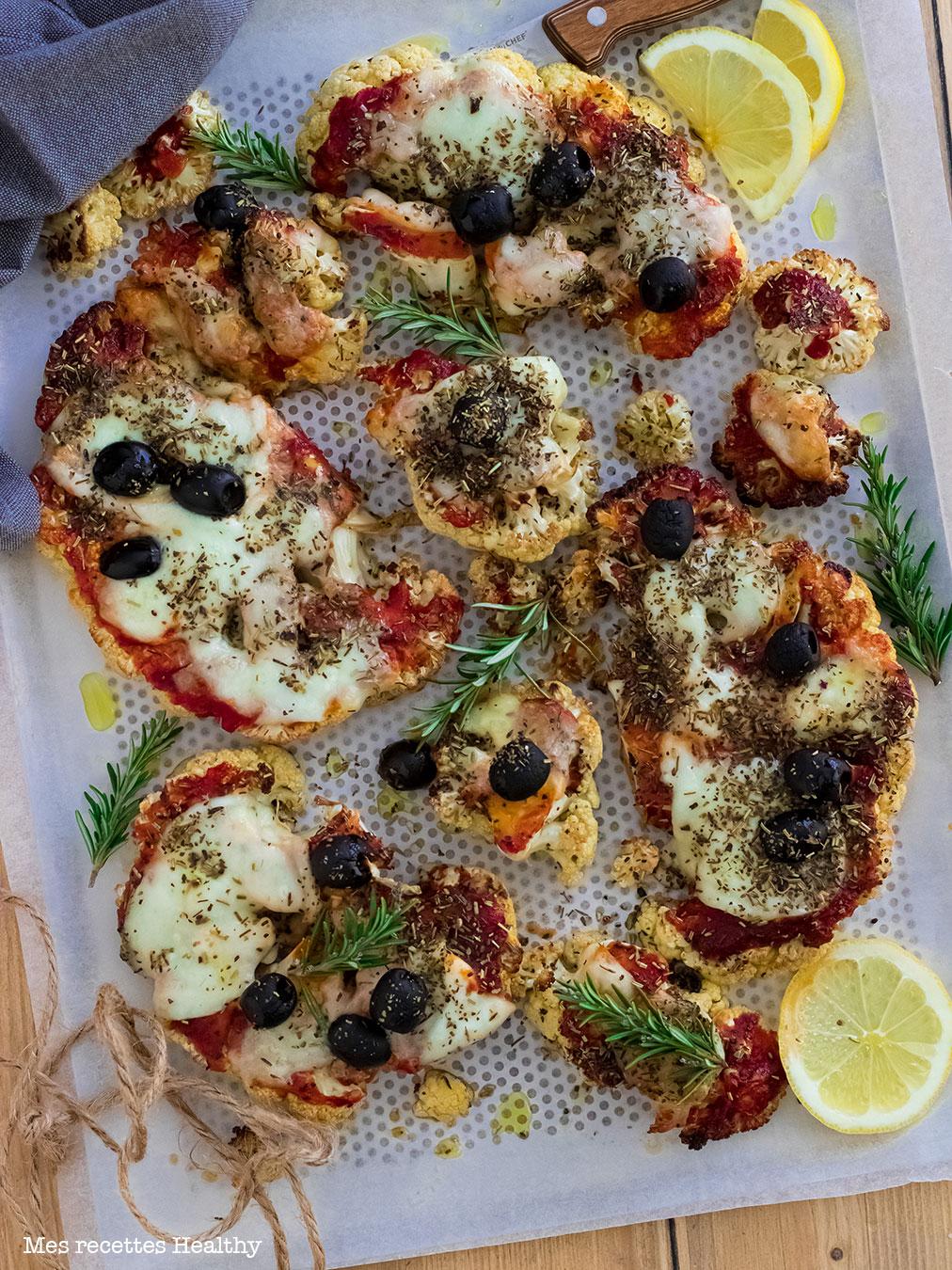 recette healthy-pizza Chou Fleur-facile-rapide-legere