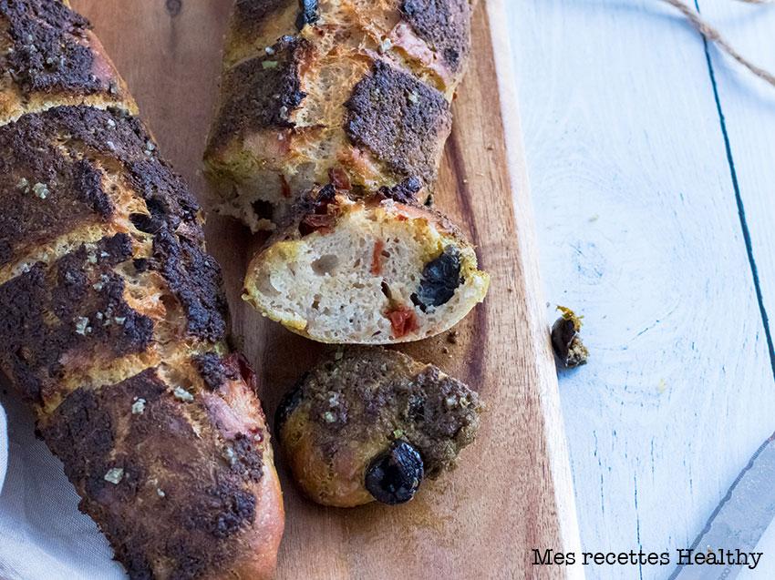 recette healthy-baguette apex-pesto-tomate-olive