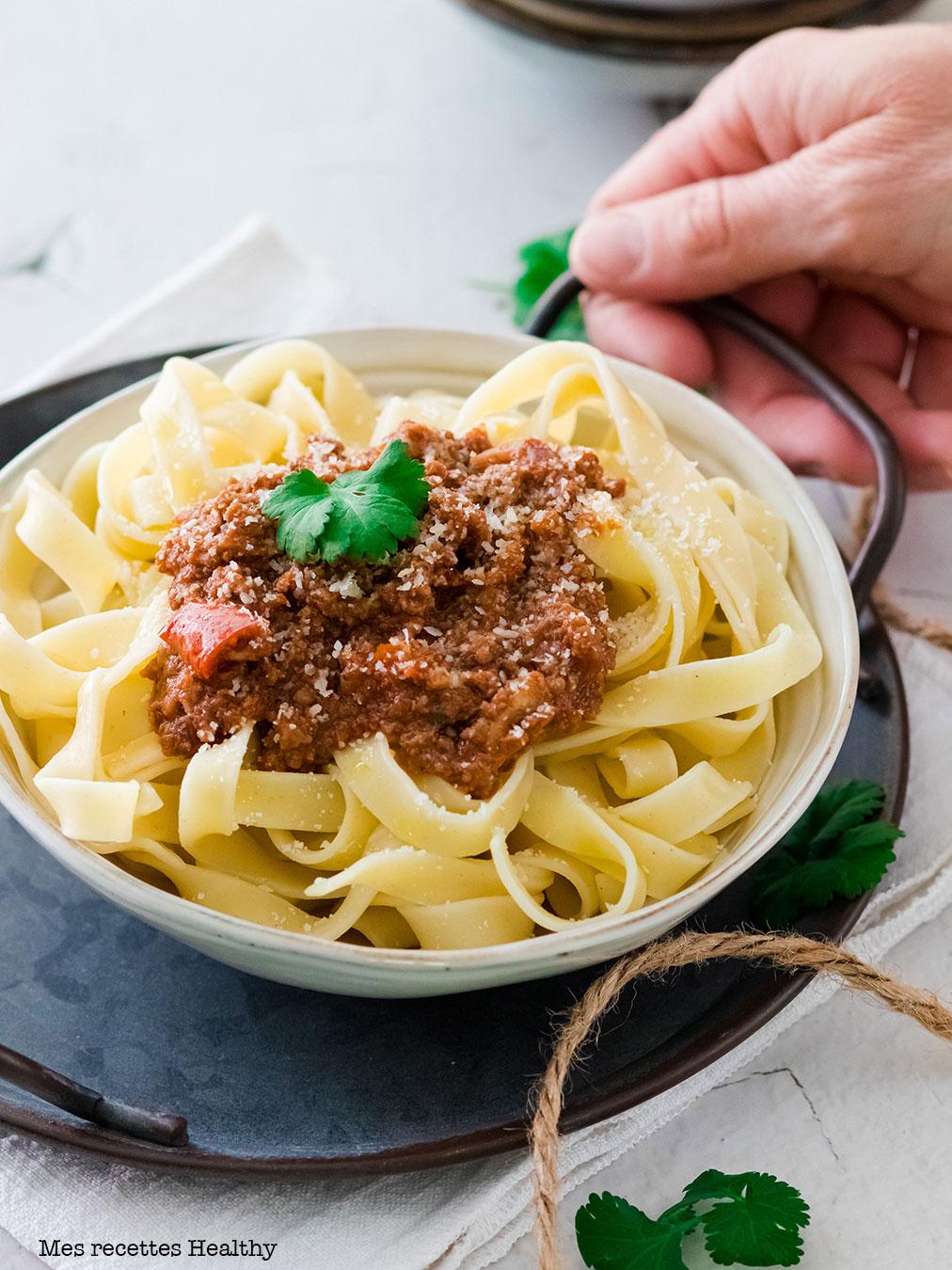 recette healthy-bolognaise maison-pate bolognaise-bolognaise facile