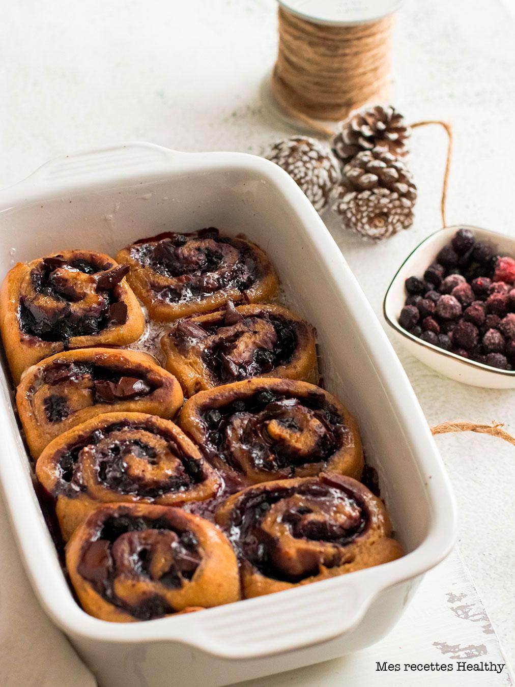 recette healthy-brioche roulée-myrtille-chocolat