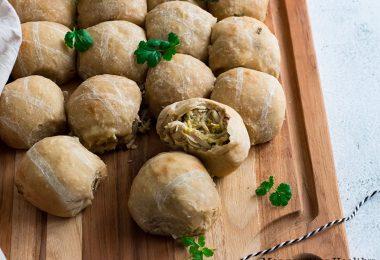 recette healthy-buns fourré-poulet-poireau-fromage