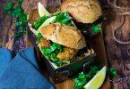 recette healthy-burger maison-nuggets de poulet-poulet pané-sauce blanche