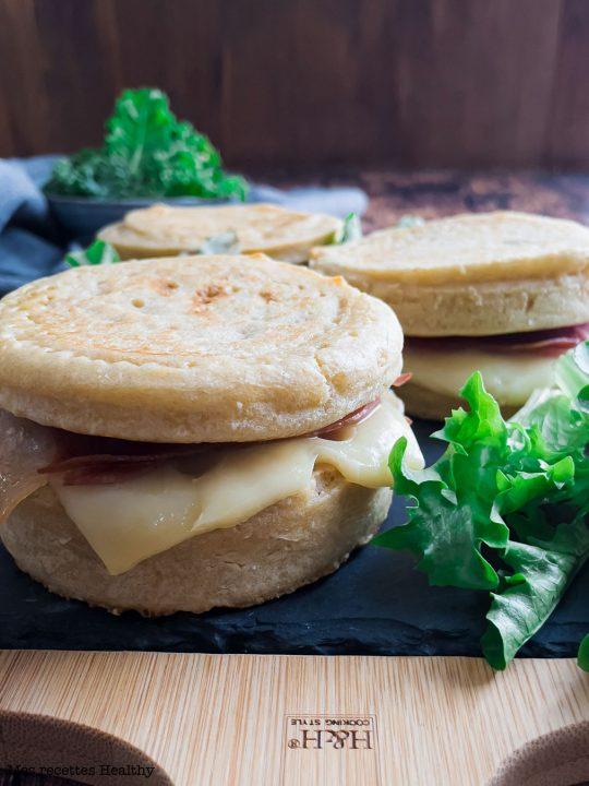 recette healthy-croque macdo-sandwich-jambon-fromage