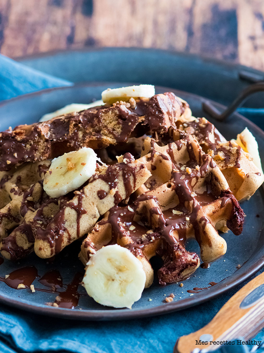 recette healthy-gaufre-chocolat-amande-sans beurre