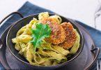 recette healthy-pate au pesto-pesto kale-nuggets-poulet