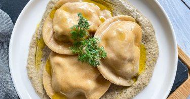 recette healthy-raviole maison-poulet-champignon