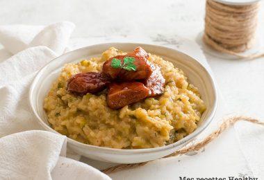 recette healthy-risotto au poireau-poulet-parmesan