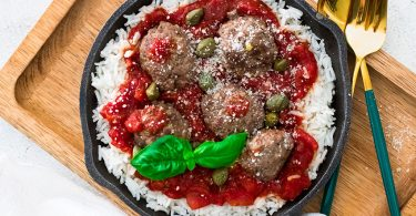 recette healthy-boulette viande-boeuf-sauce tomate