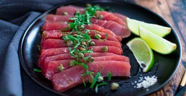 recette healthy-carpaccio-thon-capre-citron-poisson