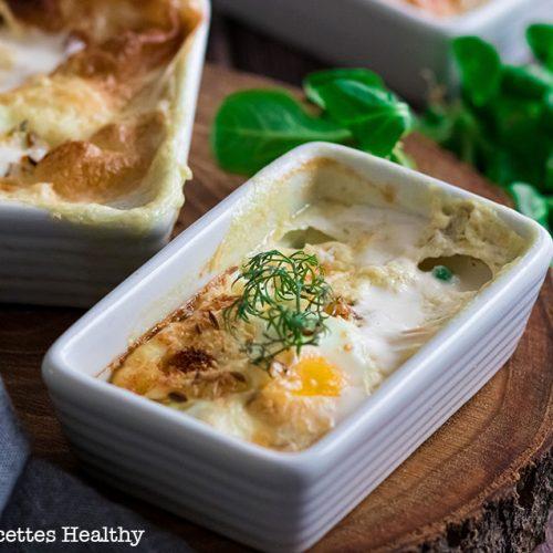 recette healthy-oeuf cocotte-fromage de chèvre-creme-petti pois