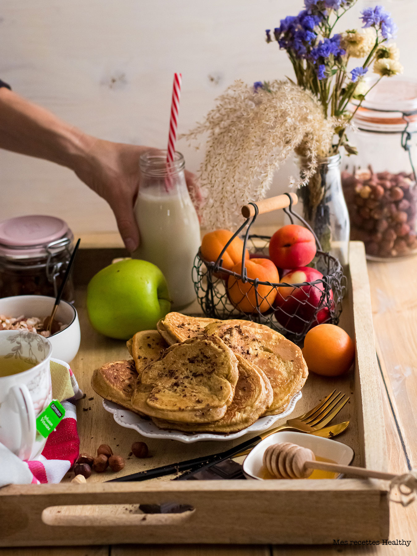 recette healthy-pancake moelleux-banane-brunch