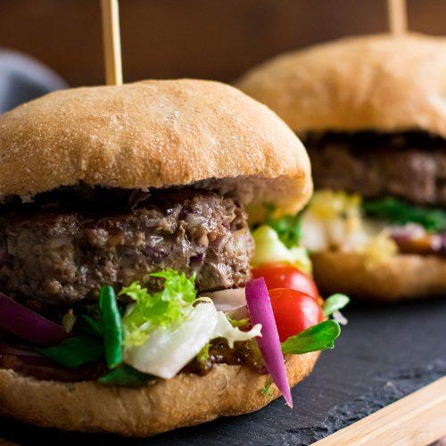 recette healthy-Burger maison cuit au barbecue -steak-plancha