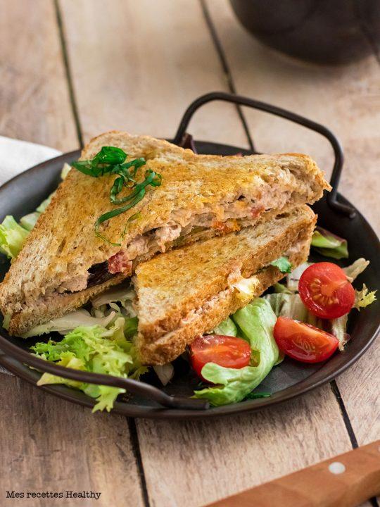 Sandwich au thon et fromage frais