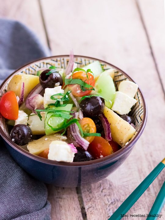 recette healthy-salade -pomme de terre-grecque