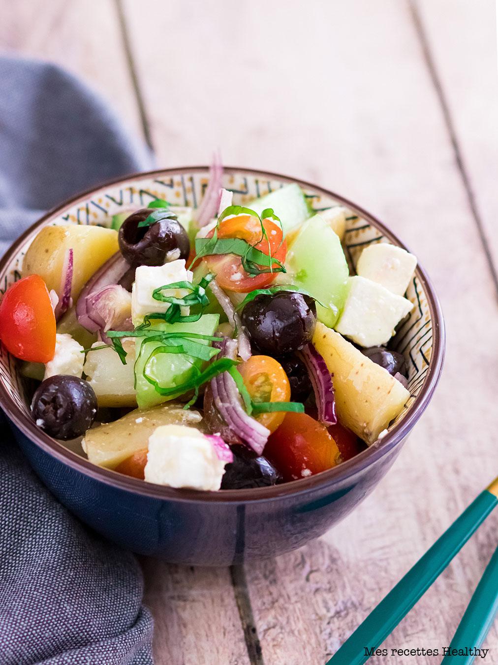 Salade de pomme de terre à la grecque