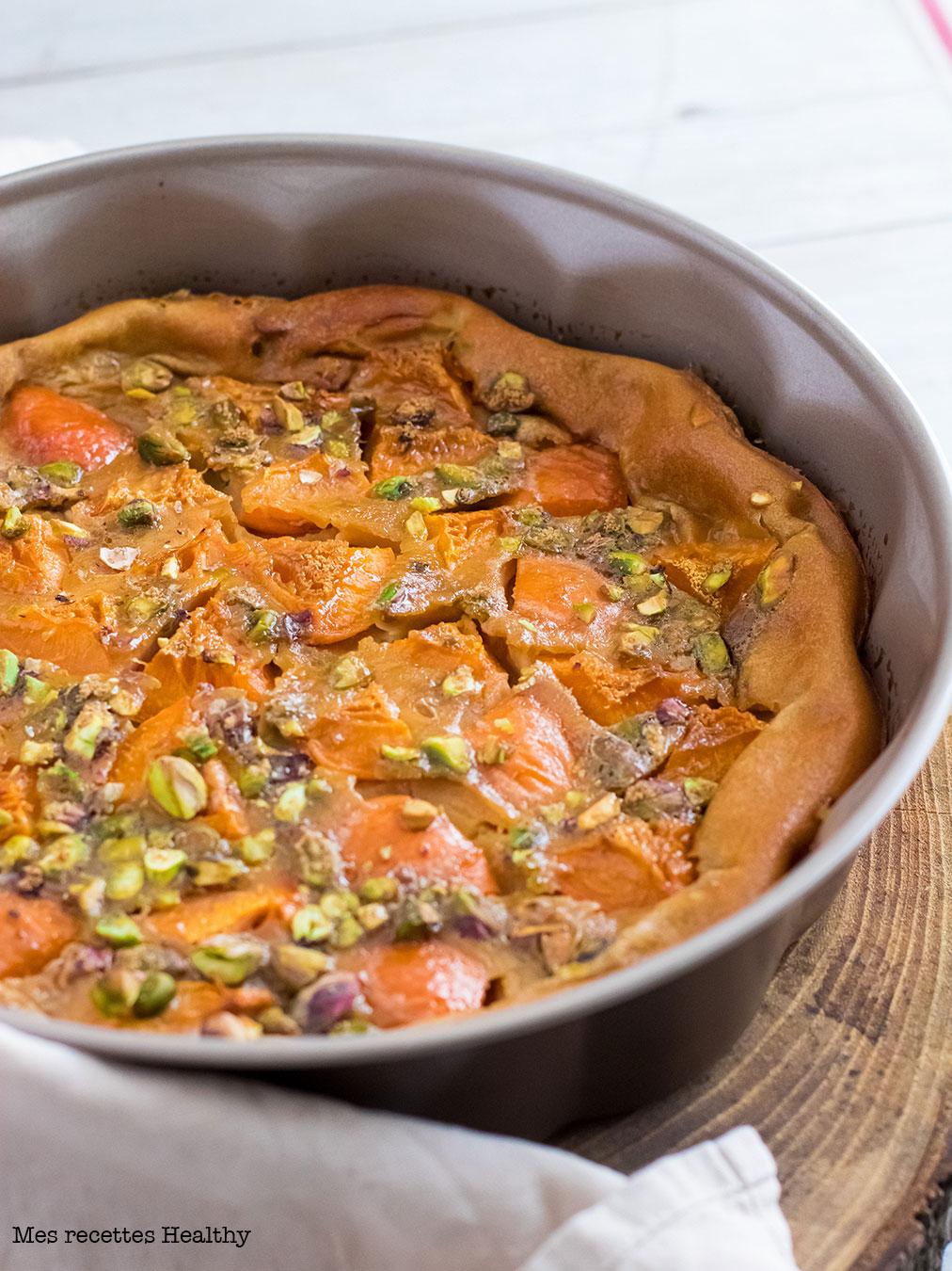recette healthy-far aux abricots-pistache