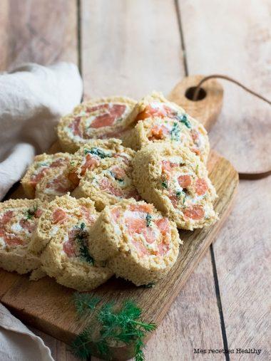 recette healthy-roulé-saumon-ricotta