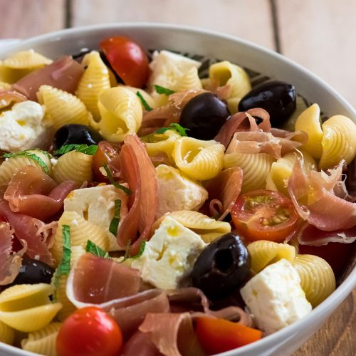 recette healthy-salade -pâte-fromage-feta-olive