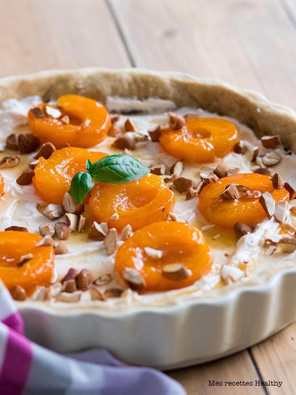 recette healthy-tarte abricot-chevre-ricotta