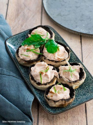 recette healthy-champignon-ricotta-chevre