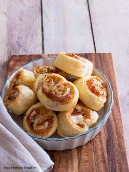 Palmier au bacon et parmesan